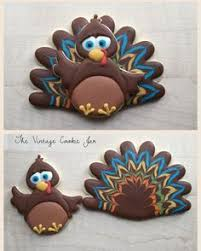 turkey 2 cookie set loved designing this big thank
