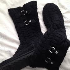 black sweater boots 75 ugg boots size 9 black sweater uggs from meghan s closet
