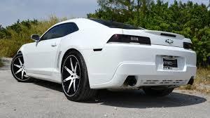 white camaro 2014 2014 chevrolet camaro on 22 inch lexani rims rides magazine