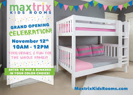 Bunk Bed Furniture Store Maxtrix Rooms Grand Opening Celebration Bunk Bed Giveaway