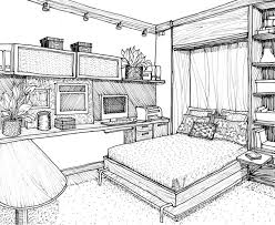 Drawing Of A Bed Drawn Bed Line Drawing Pencil And In Color Drawn Bed Line Drawing
