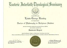 religious doctorate degrees become an ordained minister get