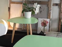 Table Basse Bio Ethanol Nord Petalo Metal Small Table With Wooden Legs