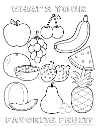 strawberry with eyes fruits coloring pages simple for kids inside