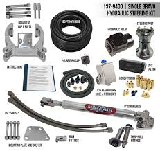 mayfair single bravo single ram full hydraulic steering kit