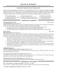 Job Resume Marketing by Professional Resume Market Research Executive Sample Administr