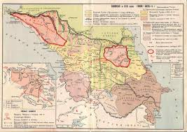south ossetia map historical maps of the caucasus
