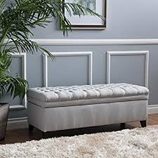 Storage Ottoman Bench Hastings Tufted Fabric Storage Ottoman Bench Light