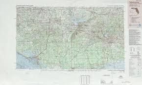 Alabama Florida Map tallahassee topographic maps fl ga usgs topo quad 30084a1 at 1
