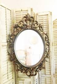 Ornate Bathroom Mirror Large Oval Wall Mirror Foter