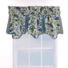 Blue Curtain Valance Waverly Imperial Dress Porcelain 50