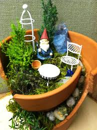 broken pot garden home for a gnome broken pot garden gnomes