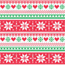 Christmas Pattern Red Green   nordic seamless knitted christmas red and green by redkoala