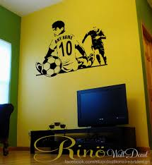 soccer wall decal soccer custom decal soccer name decal 1