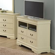 simple bedroom media chest 4 storage drawer french country style