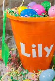 easter pail diy personalized easter pail a sparkle of genius