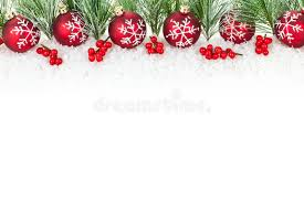 christmas border with red ornaments stock photo image 17411408