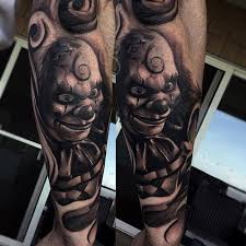 tattoo pictures joker realistic joker tattoo on arm sleeve by garage ink