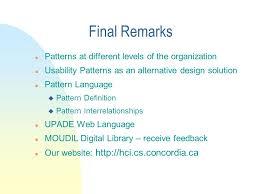 pattern language digital usability pattern oriented design usability pattern oriented design