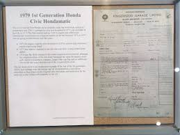 Sle Of Bill Of Sale For A Car by Tim Pitt On Civic Hondamatic Auto At Newton