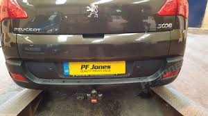 peugeot cuba peugeot 3008 crossover 2009 2017 witter fixed flange towbar