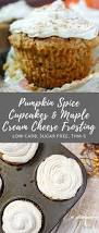 pumpkin spice cupcakes with maple cream cheese frosting my