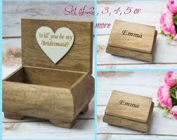 wooden party favors bridesmaid gift box keepsake box wooden box bridal party gift