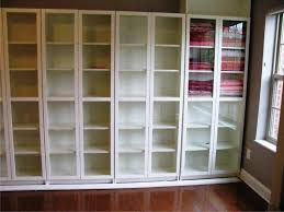 Ikea Billy Bookcases With Glass Doors by Highly Rated Bookcases With Doors Ikea With Custom Examples