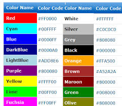 html color codes names picker css hex code generator