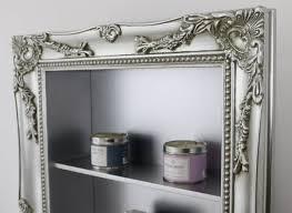 l u0027edge silver shabby chic vintage frame shelf