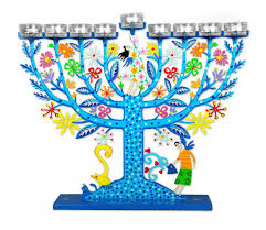 tree of menorah light blue family tree hanukkah menorah by tzuki ajudaica