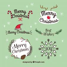 original pack of christmas labels vector free download