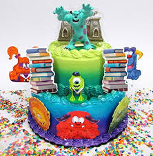 monsters inc birthday cake monsters inc sulley and mike wazowski birthday cake