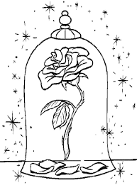 rose coloring pages and the beast rose coloring page pages beauty