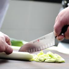 wusthof classic ikon 7 inch hollow edge santoku knife 4176 7