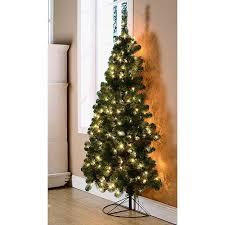 corner christmas tree 6 ft pre lit rockport half corner christmas tree co uk
