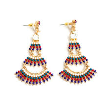Multi Coloured Chandeliers Wholesale Boho Style Multi Color Beaded Chandelier Earrings