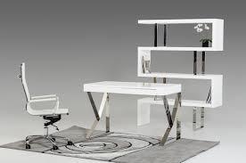 Modern Office Desks Modern White Lacquer Office Desk