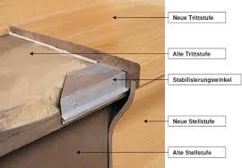 treppe mit laminat treppenrenovierung mit echtholz oder laminat trittstufen und