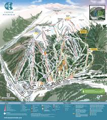 Map Of Colorado Ski Areas by Copper Winter Trail Map