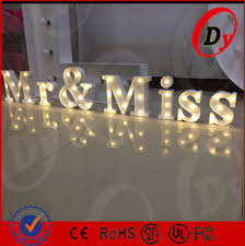 custom made portable wooden metal led bulb sign letters