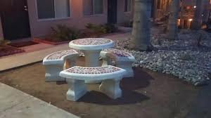 Cement Patio Table Cement Patio Furniture New Table Tables And Benches Holoapp Co