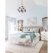 Light Blue Walls In Bedroom Soft Light Blue Master Bedroom With Blue Pillow Touches Home
