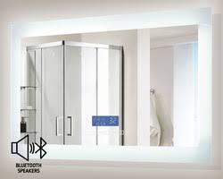 bluetooth bathroom mirror encore blu103 led illuminated bathroom mirror with built in