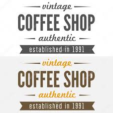 set of vintage labels emblems and logo templates for coffee shop
