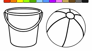 printable coloring pages to learn colors beach ball coloring page learn colors for kids and color bucket