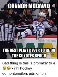 Edmonton Memes - wc connor mcdavid a w ref logic the best player ever to be on