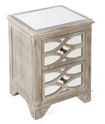 Mirrored Bedside Tables 2 Drawer Wooden Lattice Mirrored Bedside Table Temple U0026 Webster