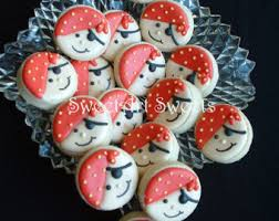 pirate cookies pirate birthday party favors skull cookie