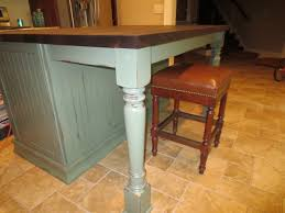 wooden kitchen island legs two osborne island legs support beautiful kitchen remodel